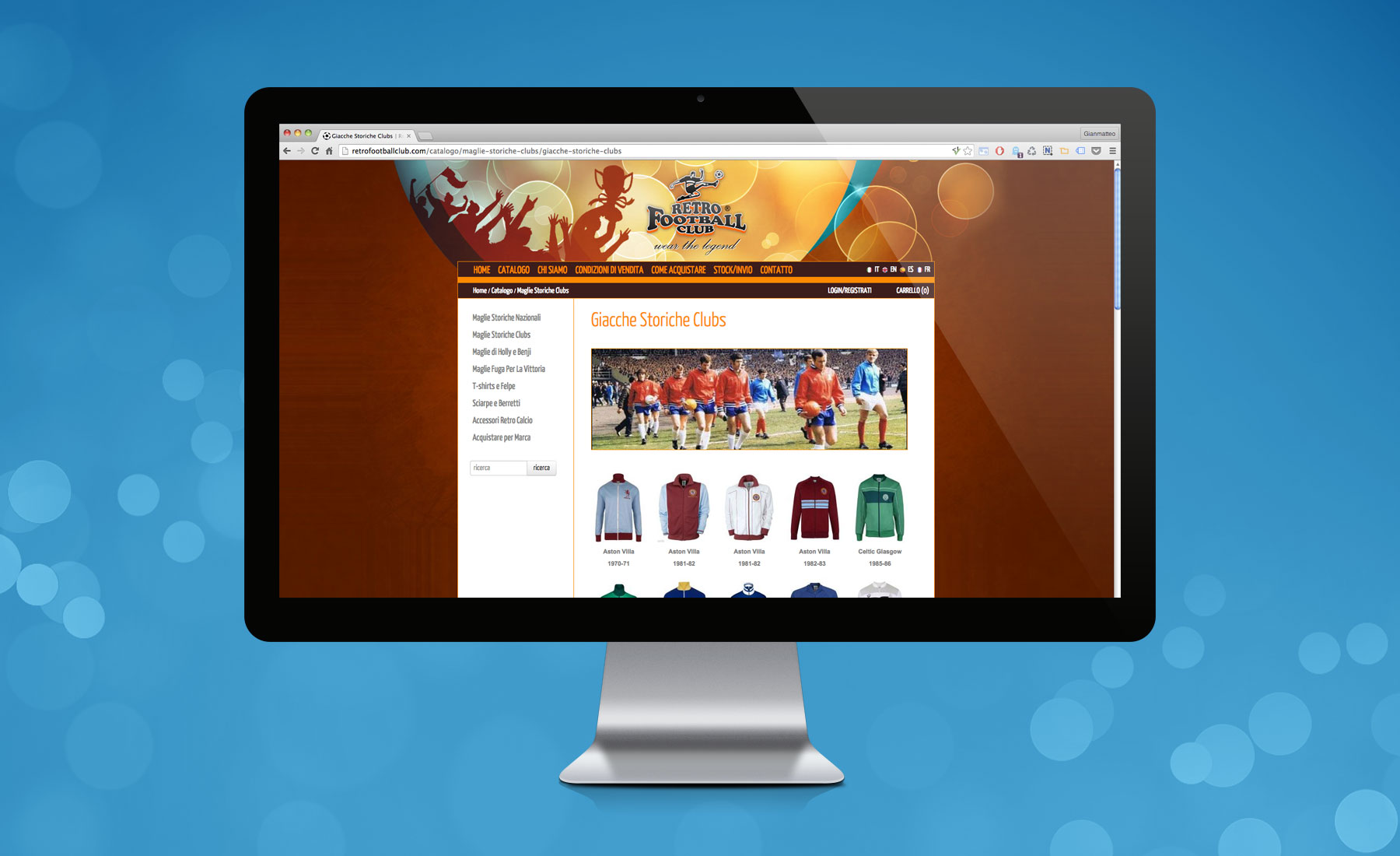 Sito Web Retrofootballclub